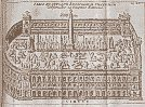 Ancient print of an ancient Roman circus like the Colosseum