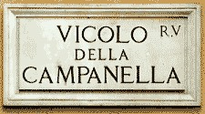 rome apartment street sign