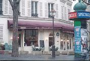 one of mine and maria's most romantic dinners was at this restaurant just down the hill from montmartre