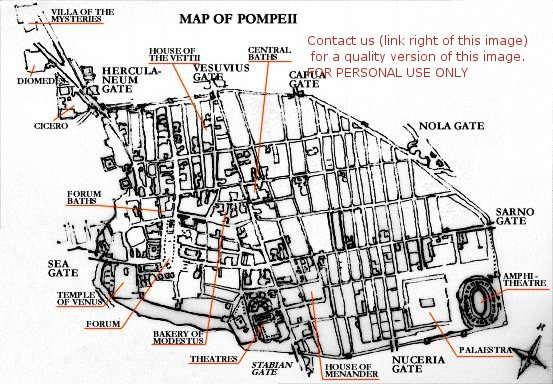 map of pompeii