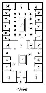 Sample plan of a roman house