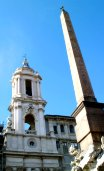 The obelisk in front of Sant Agnese church
